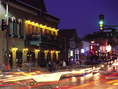 On Dickson Street, located within walking distance of the University of Arkansas, you can find restaurants, shops and clubs.