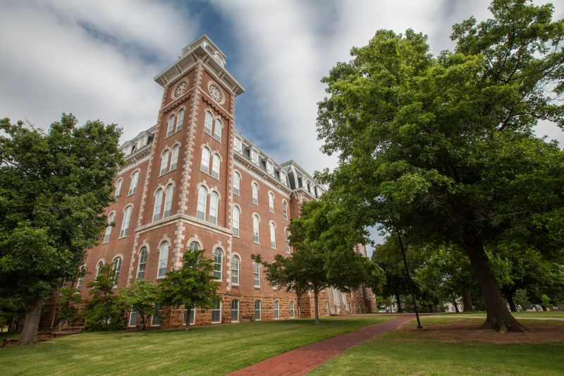 visit old main at the University of Arkansas