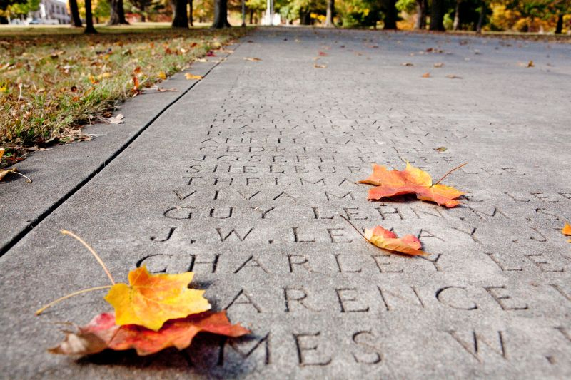 Every graduate at the University of Arkansas is etched in stone on our Senior Walk.